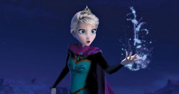 Elsa performing \Let It Go\ in 'Frozen' while showcasing her magical powers