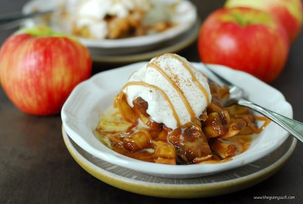Bloomin' Baked Apples recipe from The Gunny Sack
