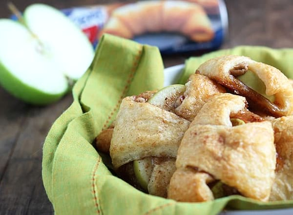 Apple Pie Bites recipe from The Blond Cook