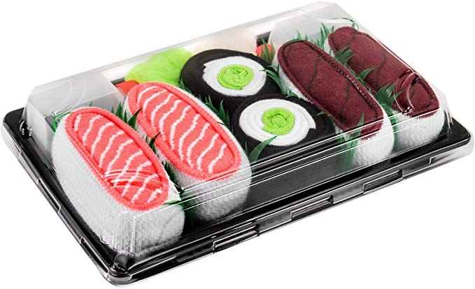 Pack of sushi socks from Amazon