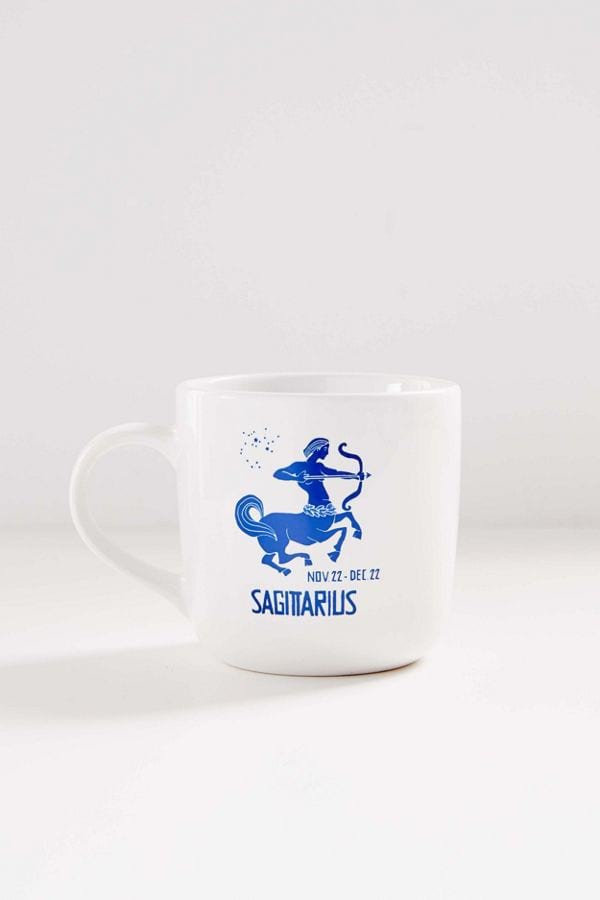 Blue Zodiac Sign 15 oz Mug from Urban Outfitters