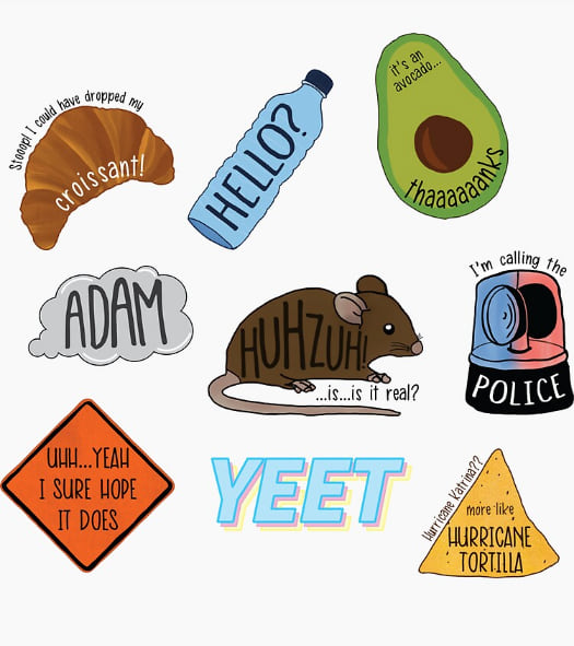Ultimate Vine Reference Sticker Pack from Redbubble