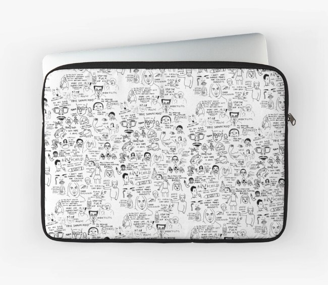 Vine Compilation Laptop Case from Redbubble