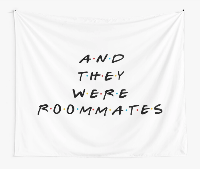 'And They Were Roommates' Wall Tapestry from Redbubble