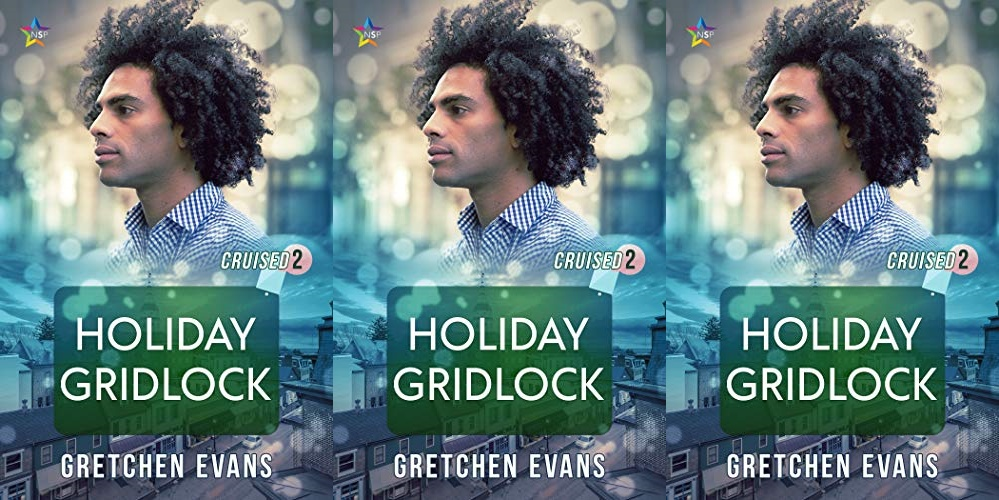 queer christmas books, holiday gridlock by gretchen evans, books