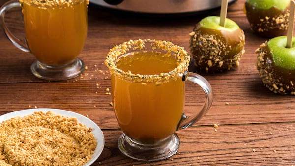 slow Cooker Salted Caramel Apple Cocktail recipe from McCormick