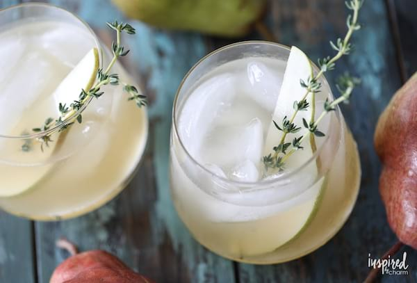 Spiced Pear Gin Cocktail recipe from Inspired by Charm