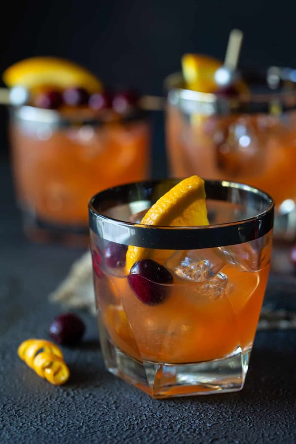 Cranberry Whiskey Sours recipe from Garnish With Lemon