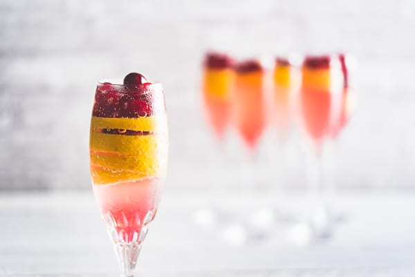 Cranberry French 75 recipe from Nomageddon