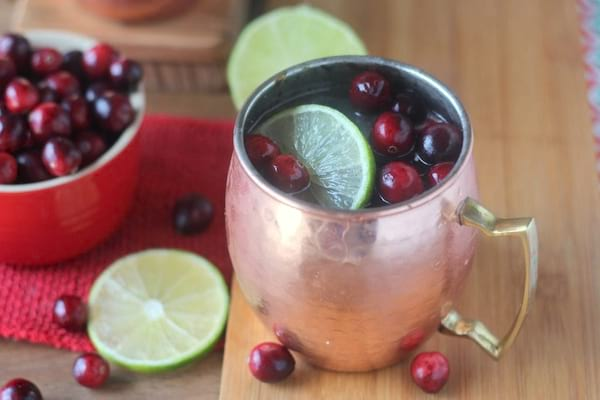 Cranberry Moscow Mules recipe from Blackberry Babe