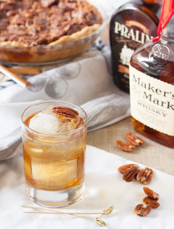 Bourbon Pecan Pie Cocktail recipe from Basil & Bubbly