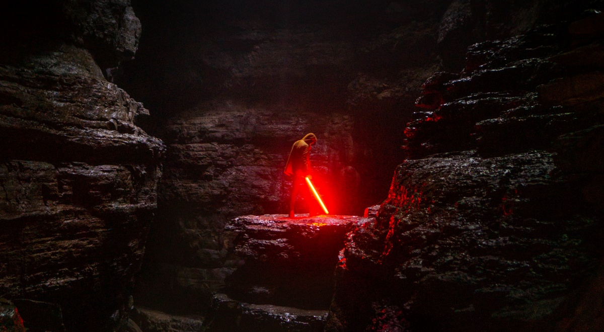 books like star wars, image of a man with a red lightsaber, books