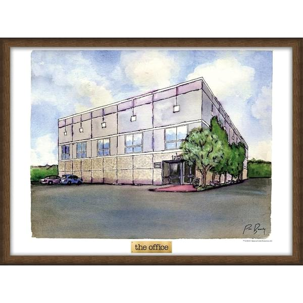 Pam's watercolor painting of the office from the NBC Store