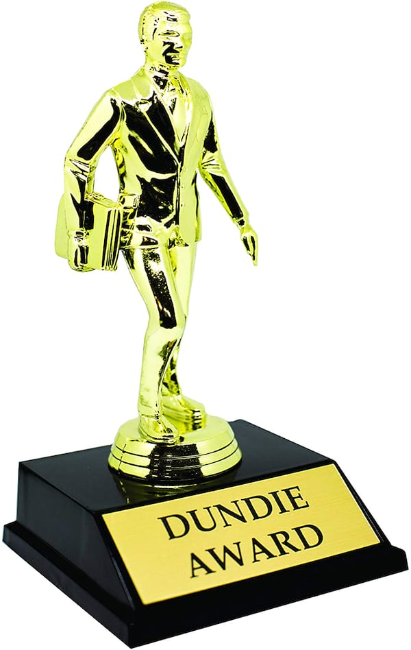 Dudie Award Trophy replica from 'The Office' available on Amazon