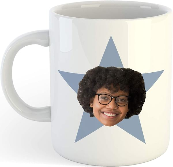 'The Office' personalized star face mug from Amazon
