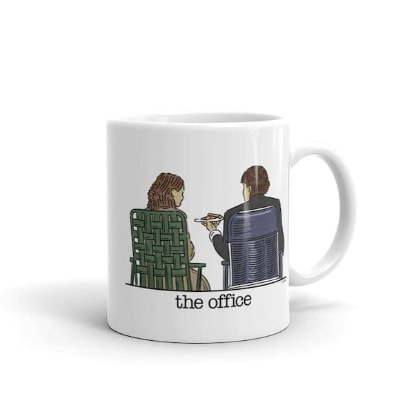 'The Office' Jim and Pam Roof Date White Mug from the NBC Store