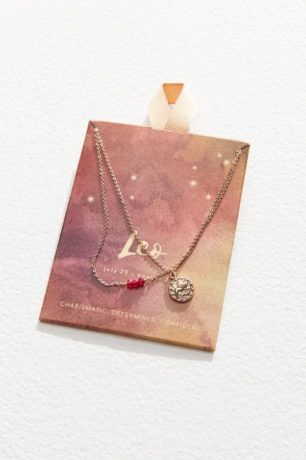 Zodiac Mini Pendant Necklace Set from Urban Outfitters