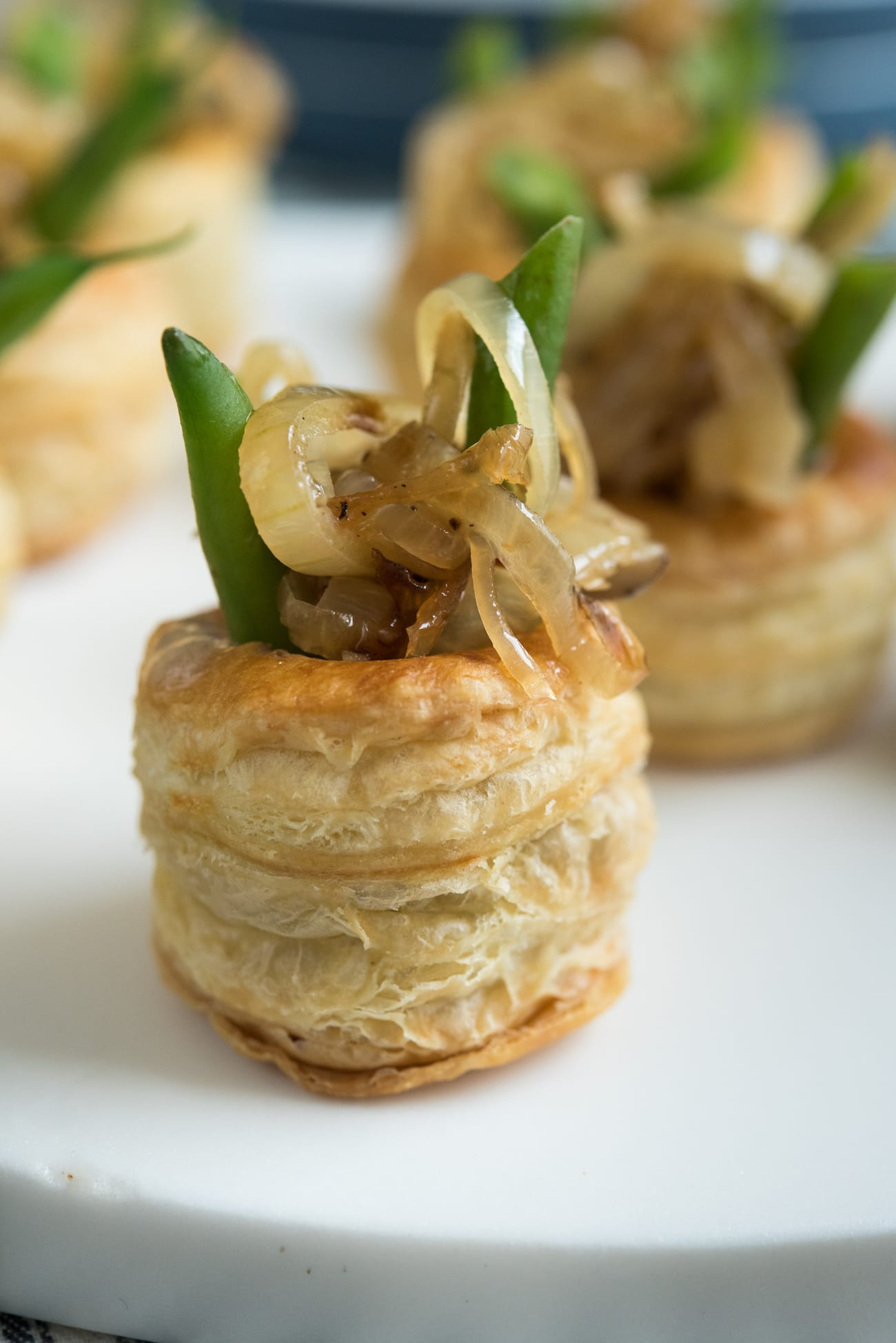 Mini Green Bean Casserole Puffs recipe from The Sweetest Occasion
