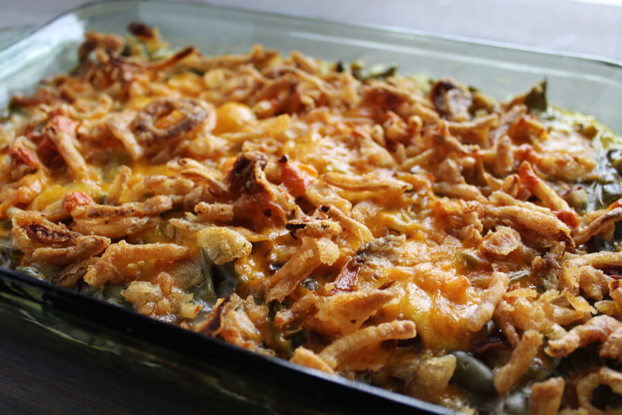 Bacon Green Bean Casserole recipe from Buy This Cook That