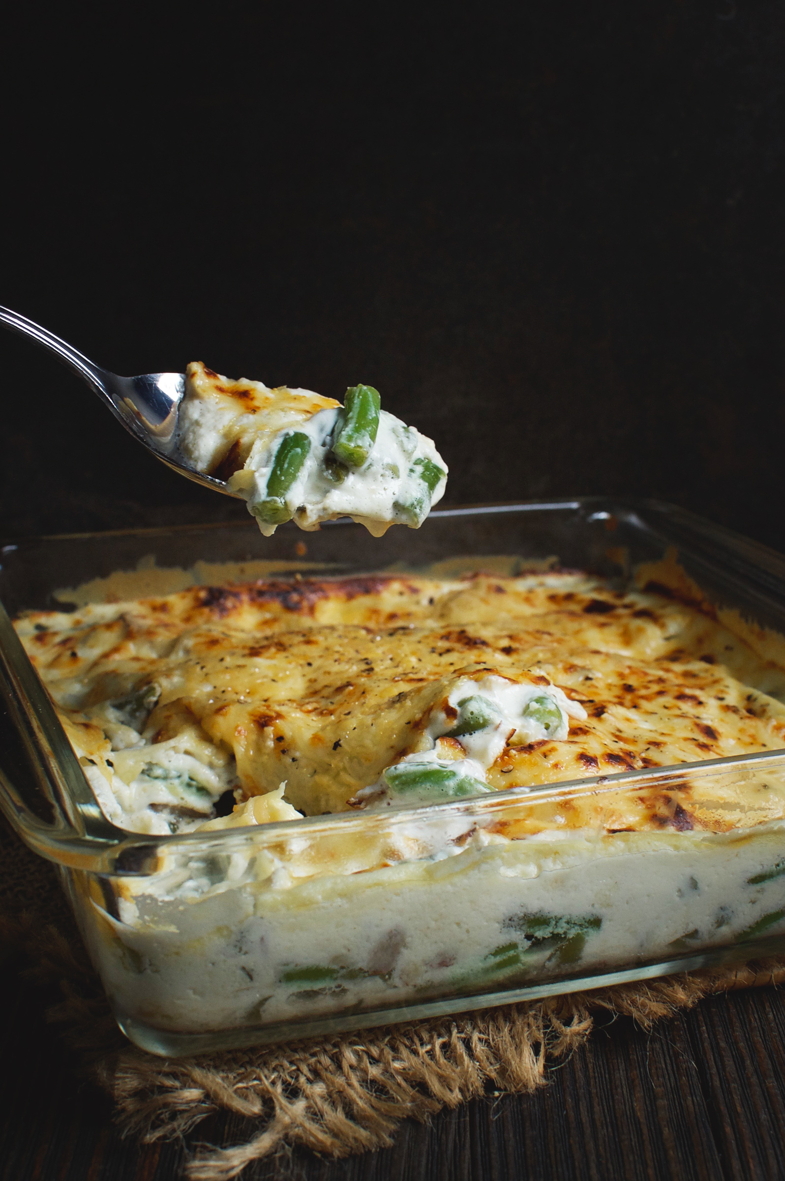 Low-Carb Green Bean and Mushroom Casserole recipe from Simply So Healthy