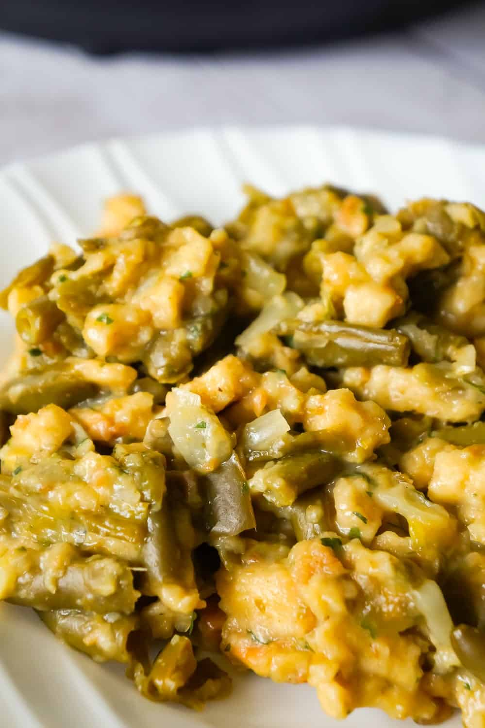 Instant Pot Green Bean Casserole With Stuffing Recipe from This Is Not Diet Food