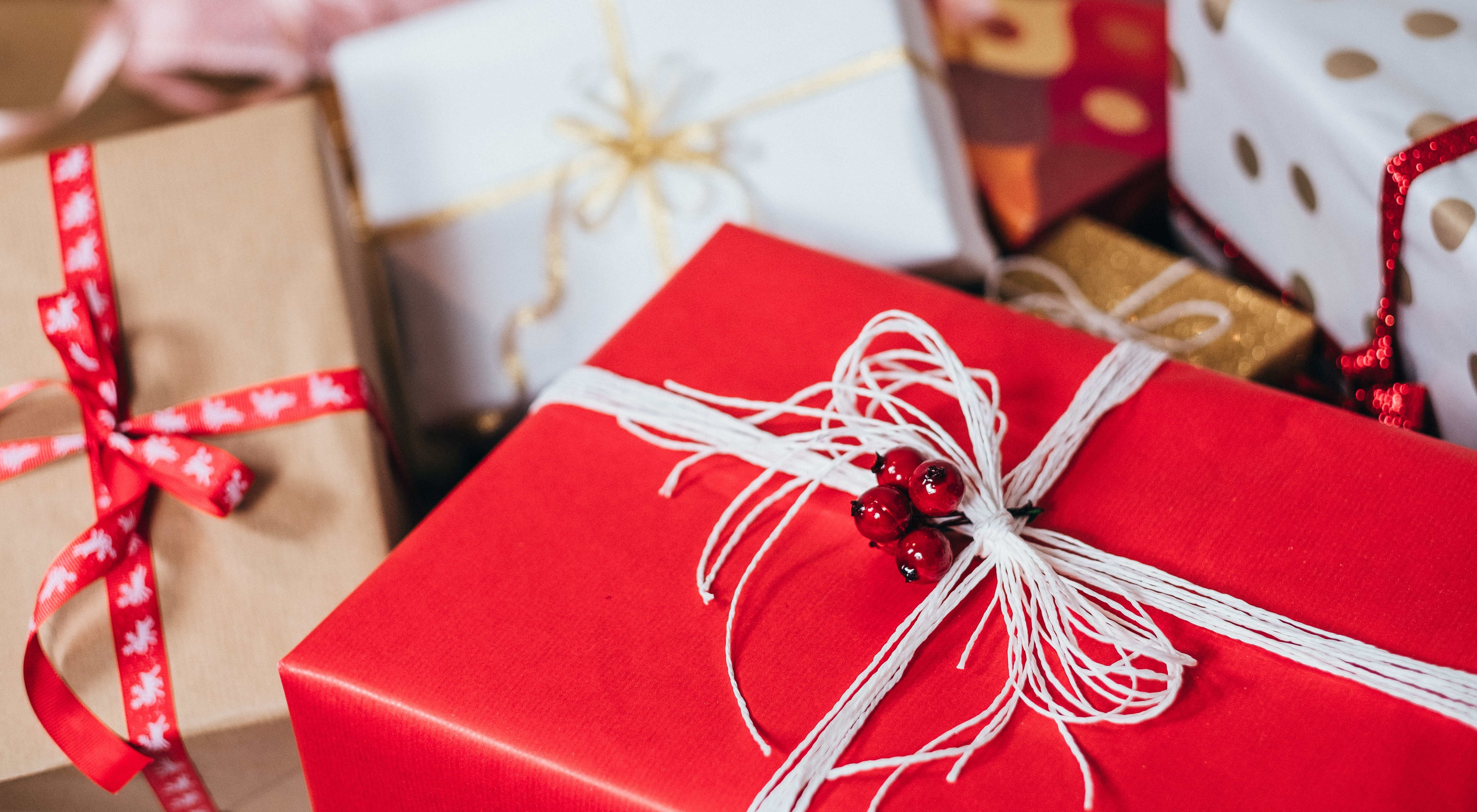 gift ideas for book lovers, closeup of a variety of presents, books