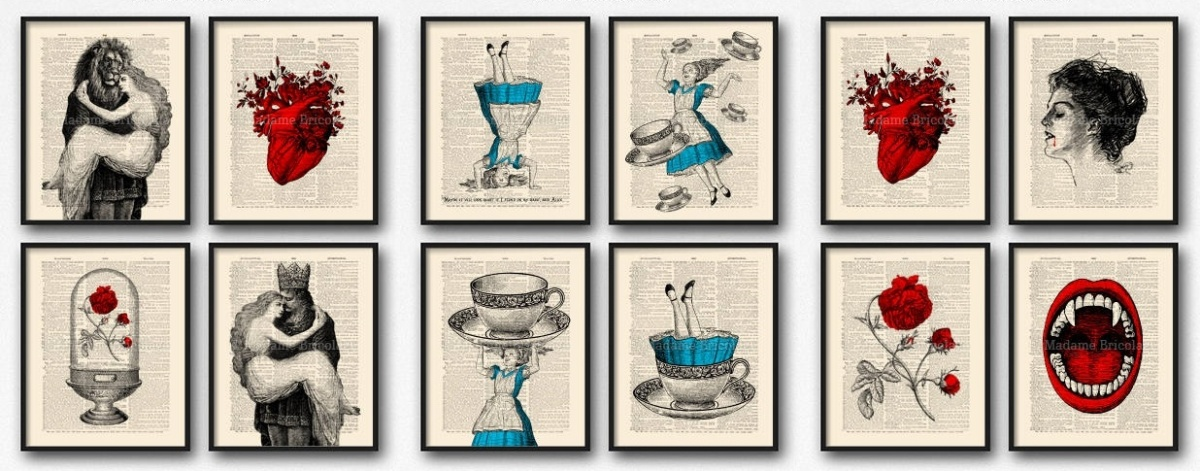 gifts for book lovers, book art prints, books