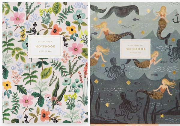 gifts for book lovers, two journals, books