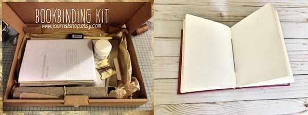 gifts for book lovers, bookbinding kit, books