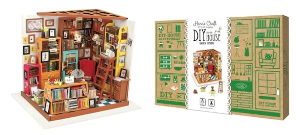 gifts for book lovers, miniature study kit, books