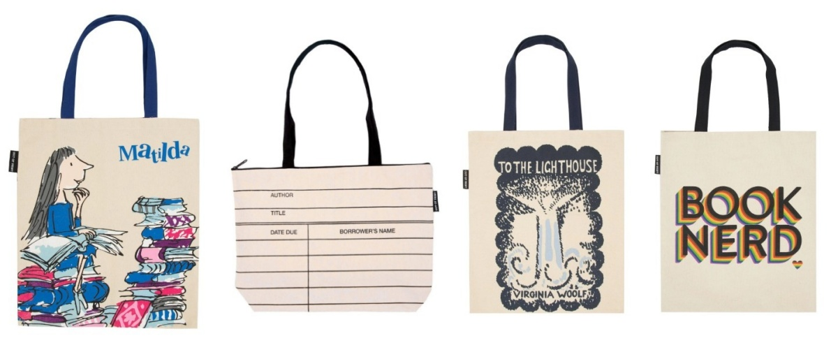 gifts for book lovers, literary totes, books