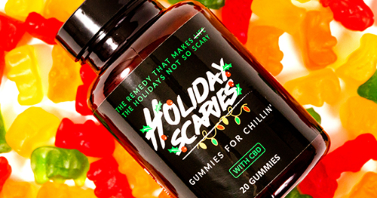 Holiday Scaries CBD Gummies with Vitamins from Sunday Scaries
