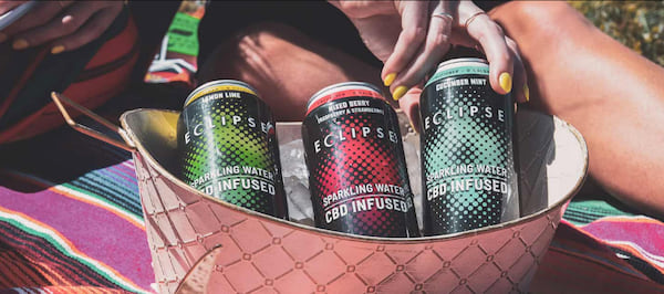 Eclipse's line of CBD-infused sparkling waters
