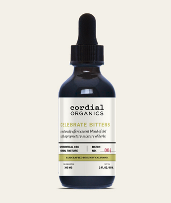Celebrate Bitters bottle from Cordial Organics