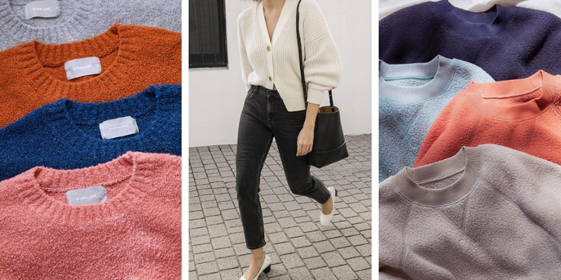 Everlane sweaters from the Instagram account