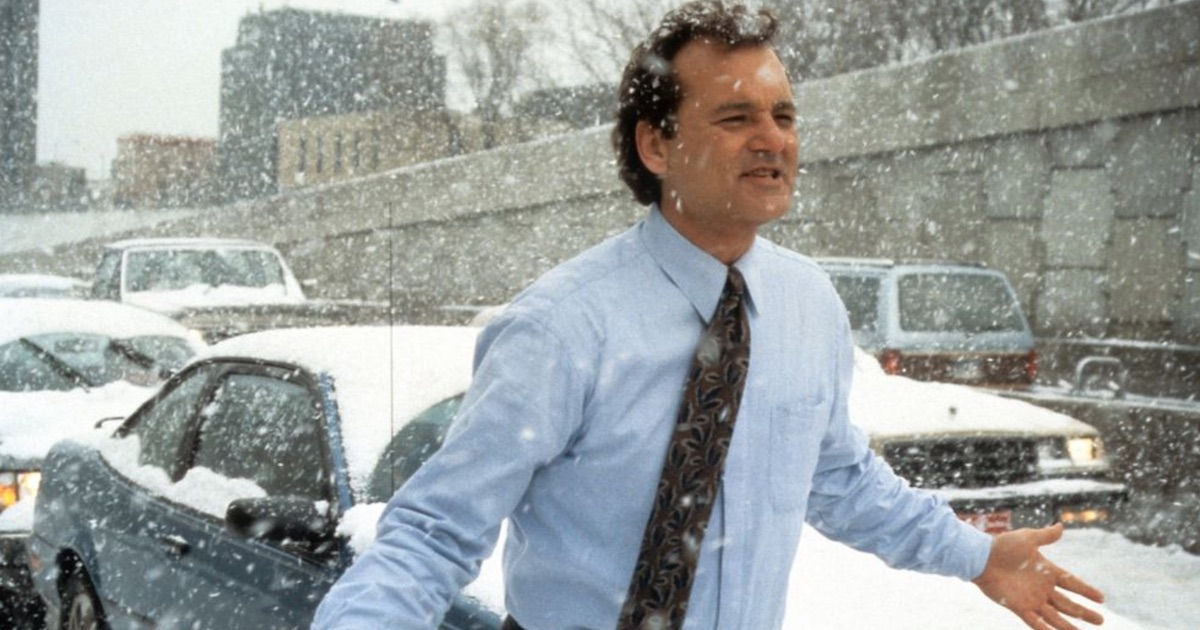 bill murray groundhog day movie snow