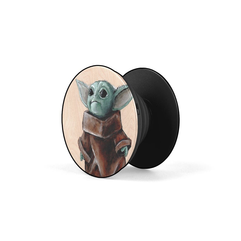 Handmade Baby Yoda Popsocket from Etsy