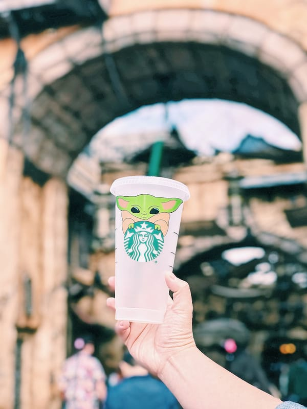 Personalized Baby Yoda Starbucks cup from Etsy