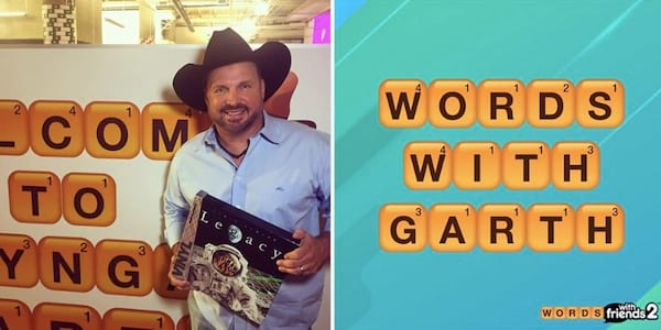 Garth Brooks Words With Friends game