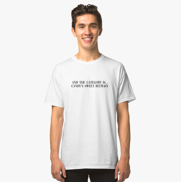 'Candy's Sweet Refrain' T-Shirt from Redbubble