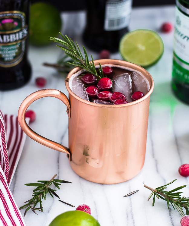 Holiday Moscow Mule recipe from Hot Beauty Health