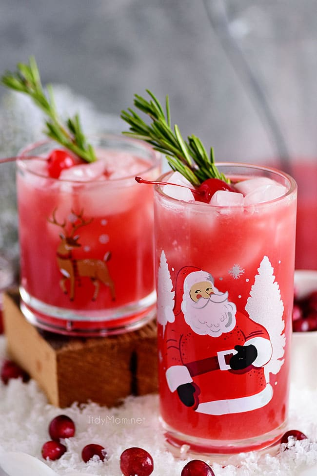 Rudolph's Tipsy Spritzer recipe from Tidy Mom