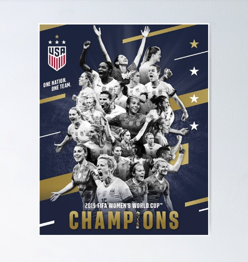 USWNT Champions poster from Redbubble