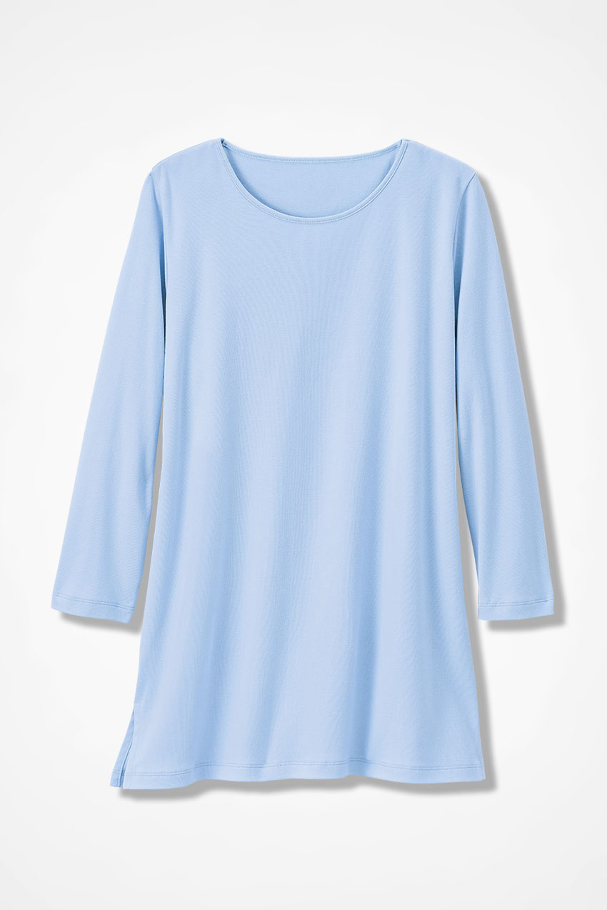 Best Cotton Tunic in baby blue from Coldwater Creek