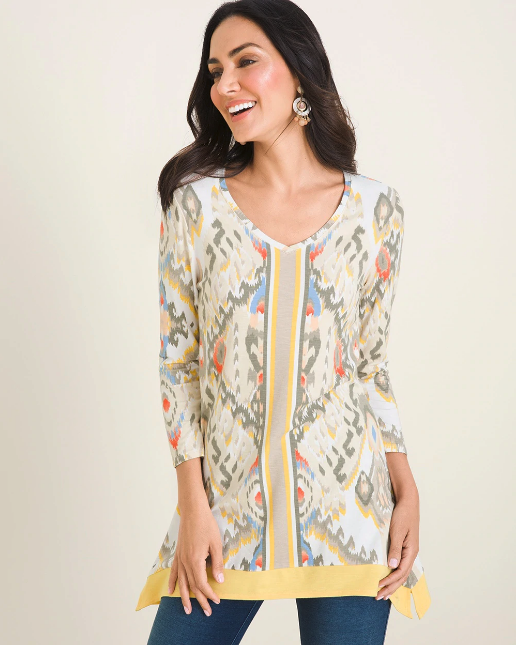Ikat Border Tunic from Chico's