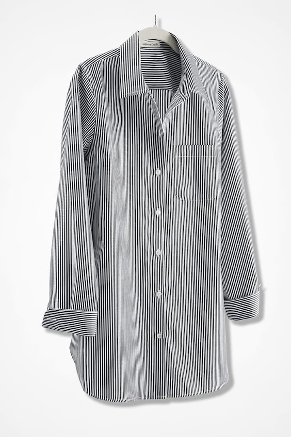 Anytime Striped Easy Care Tunic from Coldwater Creek