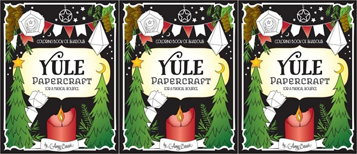 books about yule, color book of shadows yule papercraft for a magical solstice by amy cesari, books