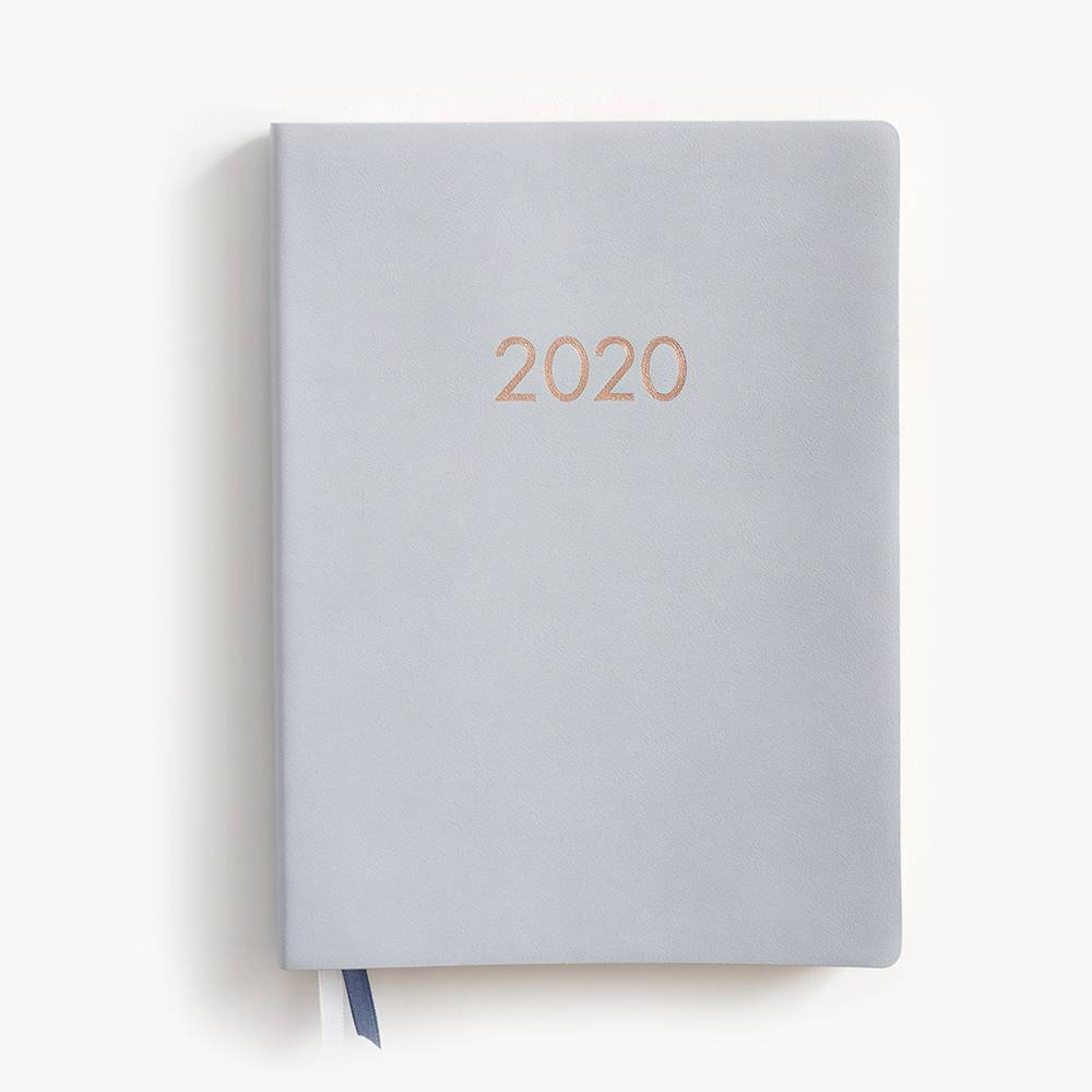 2019-2020 Dove Grey Large Planner from Paper Source