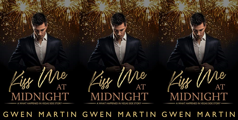 new year's romance novels, kiss me at midnight by gwen martin, books