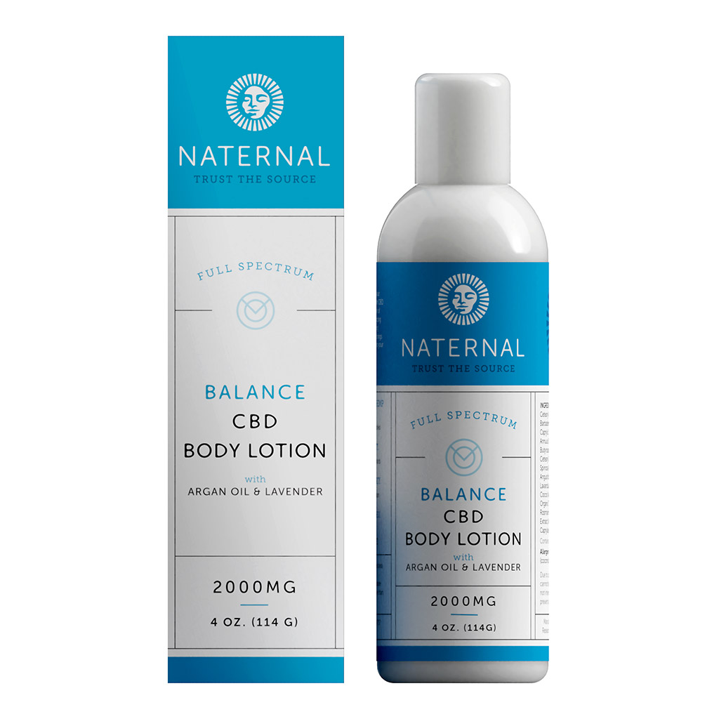 Naternal CBD Body Lotion 4oz 2000mg, health